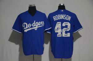 2017-mlb-los-angeles-dodgers-42-robinson-blue-fashion-edition-jerseys