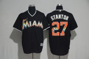 2017-mlb-miami-marlins-27-stanton-black-fashion-edition-jerseys