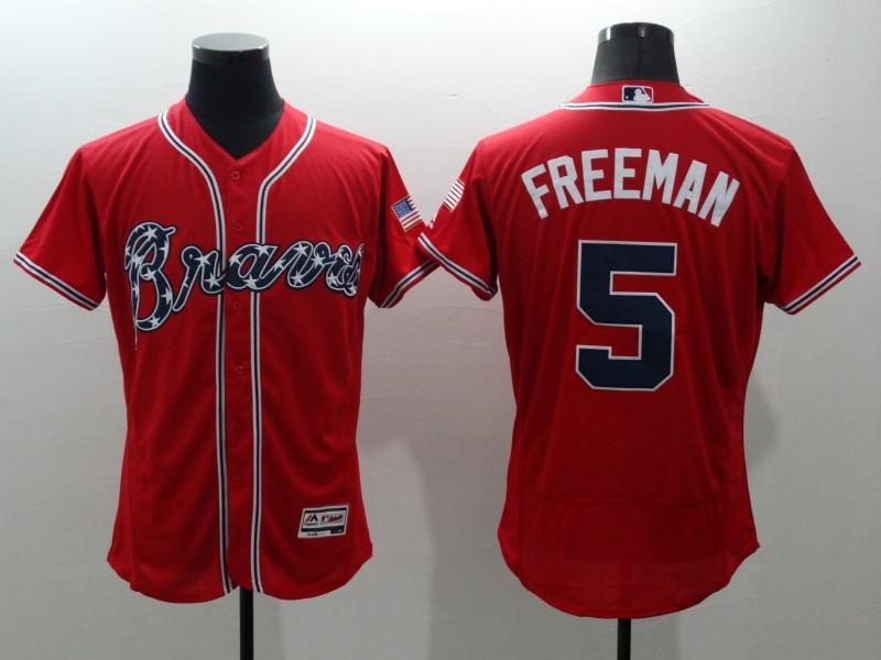 2016 MLB FLEXBASE Atlanta Braves 5 Freeman red jerseys