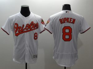 2016 MLB FLEXBASE Baltimore Orioles 8 Ripken white jerseys