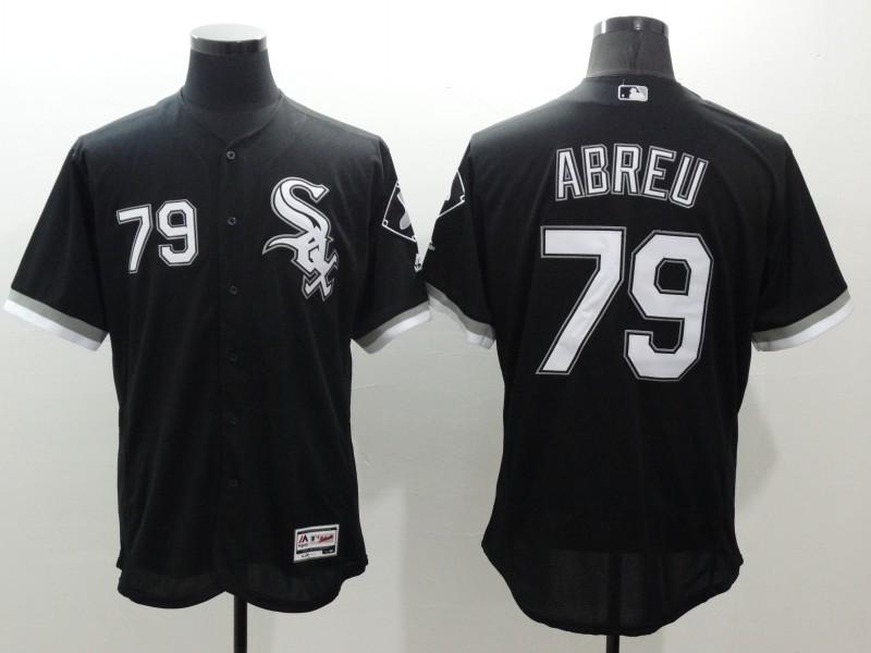 2016 MLB FLEXBASE Chicago White Sox 79 Abreu black jerseys