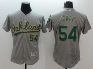 2016 MLB FLEXBASE Oakland Athletics 54 Gray Grey Jersey