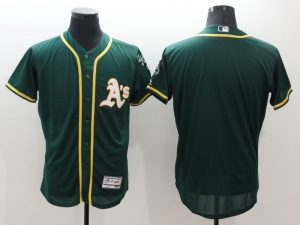 2016 MLB FLEXBASE Oakland Athletics Blank Green Jersey