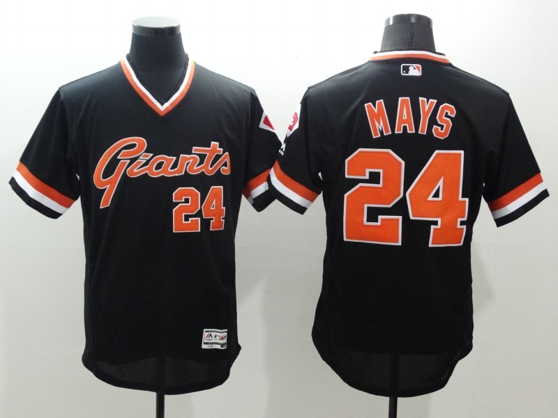 2016 MLB FLEXBASE San Francisco Giants 24 Mays black jerseys