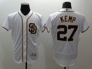 2016 MLB FLEXBASE San Francisco Giants 27 Kemp White Jersey