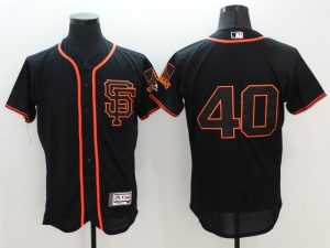 2016 MLB FLEXBASE San Francisco Giants 40 Madison Bumgarner Black Jersey