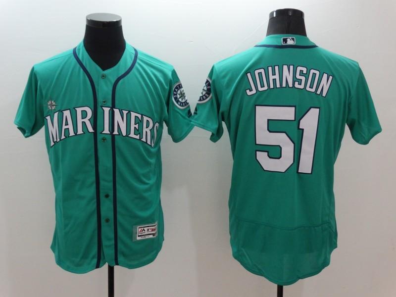 2016 MLB FLEXBASE Seattle Mariners 51 Johnson Green Jersey