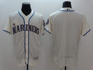 2016 MLB FLEXBASE Seattle Mariners Blank Gream Jersey