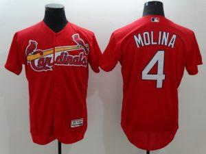 2016 MLB FLEXBASE St. Louis Cardinals 4 Molina Red Jersey