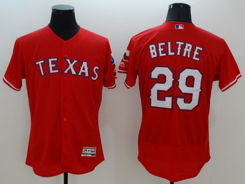 2016 MLB FLEXBASE Texas Rangers 29 Beltre red jerseys