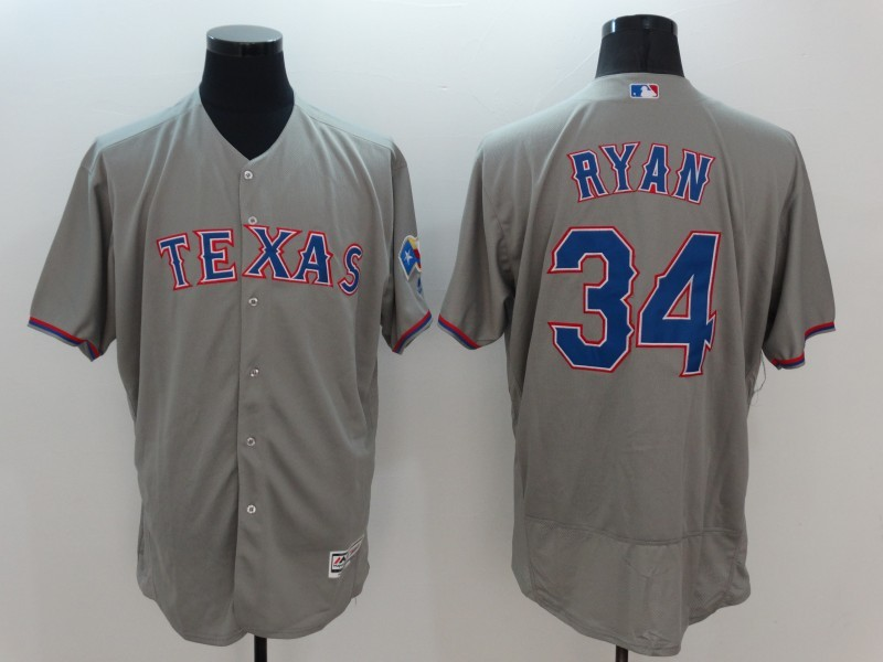2016 MLB FLEXBASE Texas Rangers 34 Ryan Grey Jersey