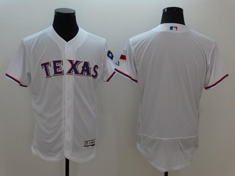 2016 MLB FLEXBASE Texas Rangers Blank White Jersey