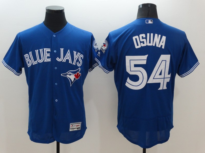 2016 MLB FLEXBASE Toronto Blue Jays 54 Osuna Blue Jersey