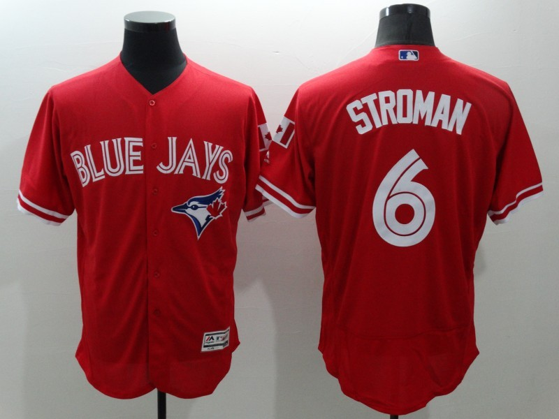 2016 MLB FLEXBASE Toronto Blue Jays 6 Stroman Red Jersey