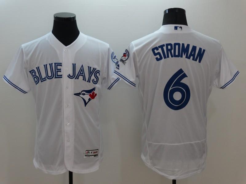 2016 MLB FLEXBASE Toronto Blue Jays 6 Stroman White Jersey