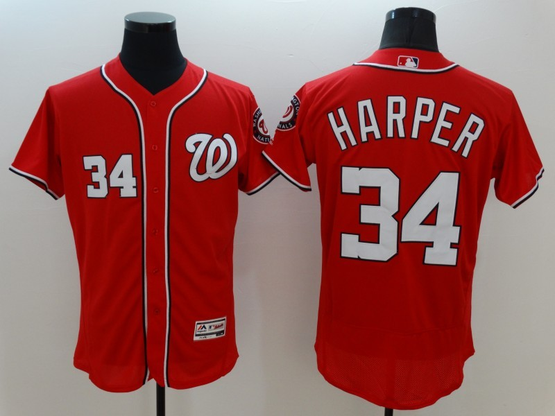 2016 MLB FLEXBASE Washington Nationals 34 Harper red jerseys