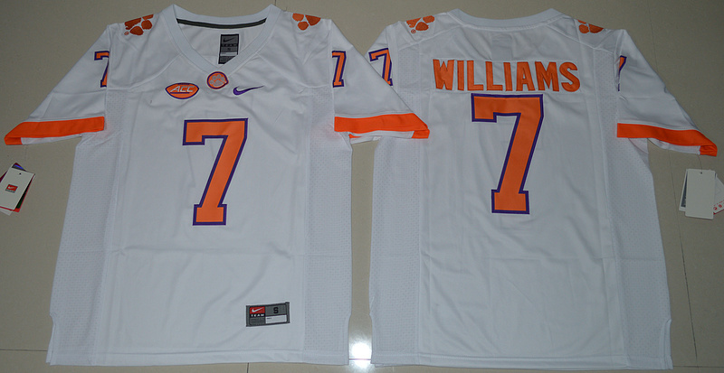 2016-ncaa-clemson-tigers-7-mike-williams-white-college-football-limited-jersey