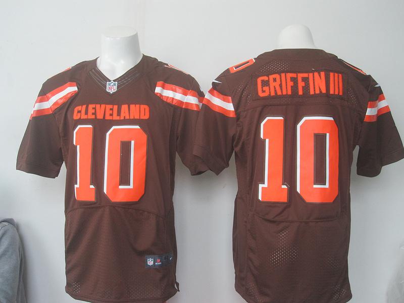 2016 Nike NFL Cleveland Browns 10 Griffin III brown Elite jerseys