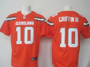 2016 Nike NFL Cleveland Browns 10 Griffin III orange Elite jerseys