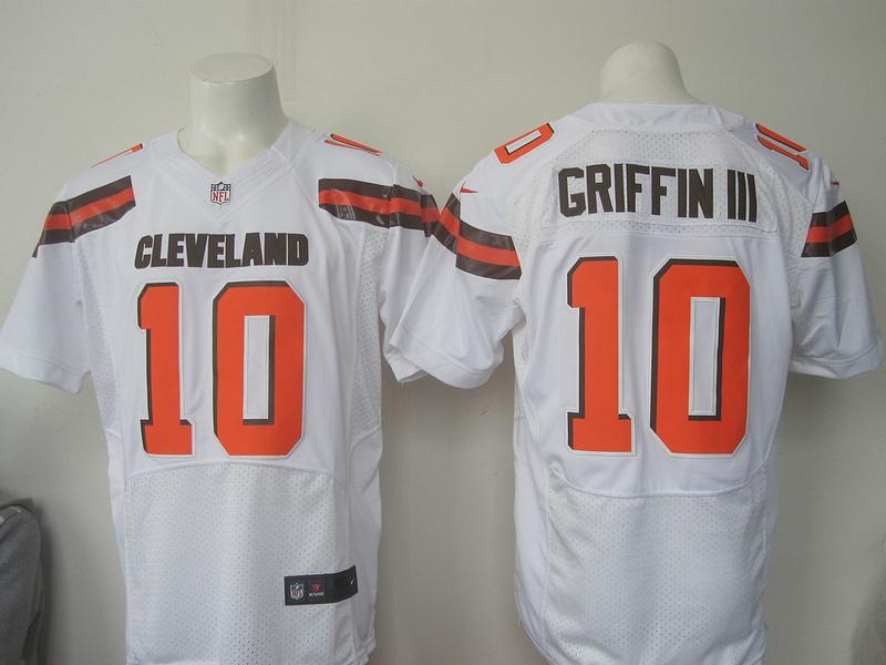 2016 Nike NFL Cleveland Browns 10 Griffin III white Elite jerseys