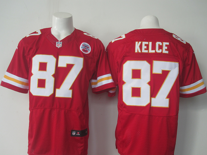 NFL Kansas City Chiefs 87 Kelce red Nike elite 2016 jerseys