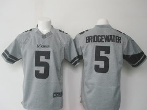 NFL Minnesota Vikings 5 Bridgewater Grey 2016 Nike jerseys