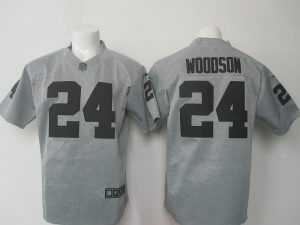 NFL Oakland Raiders 24 Charles Woodson Grey 2016 Nike Jerseys