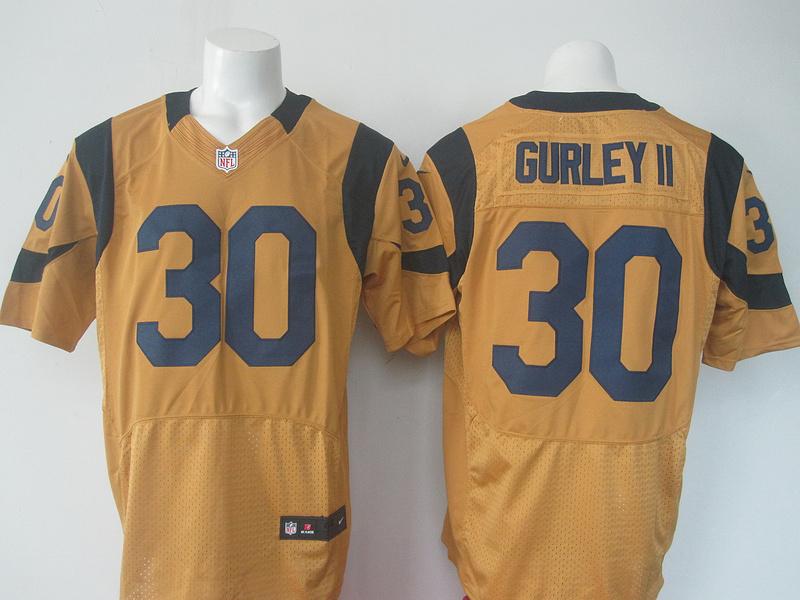NFL St. Louis Rams 30 Gurley Yellow elite Nike 2016 jerseys