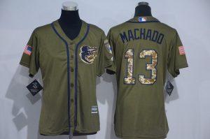 womens-2017-mlb-baltimore-orioles-13-machado-green-salute-to-service-stitched-baseball-jersey