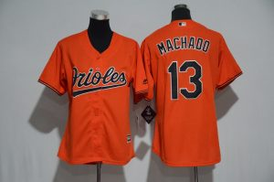 womens-2017-mlb-baltimore-orioles-13-machado-orange-jerseys