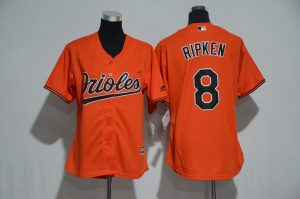 womens-2017-mlb-baltimore-orioles-8-ripken-orange-jerseys