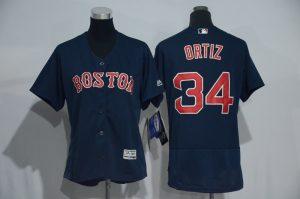womens-2017-mlb-boston-red-sox-34-ortiz-blue-elite-jerseys