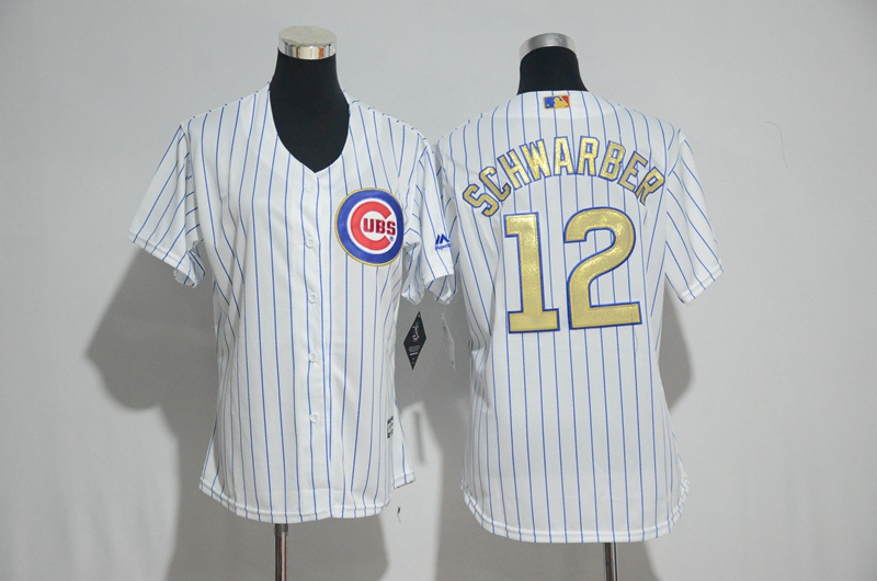 womens-2017-mlb-chicago-cubs-12-schwarber-cubs-white-gold-program-jersey