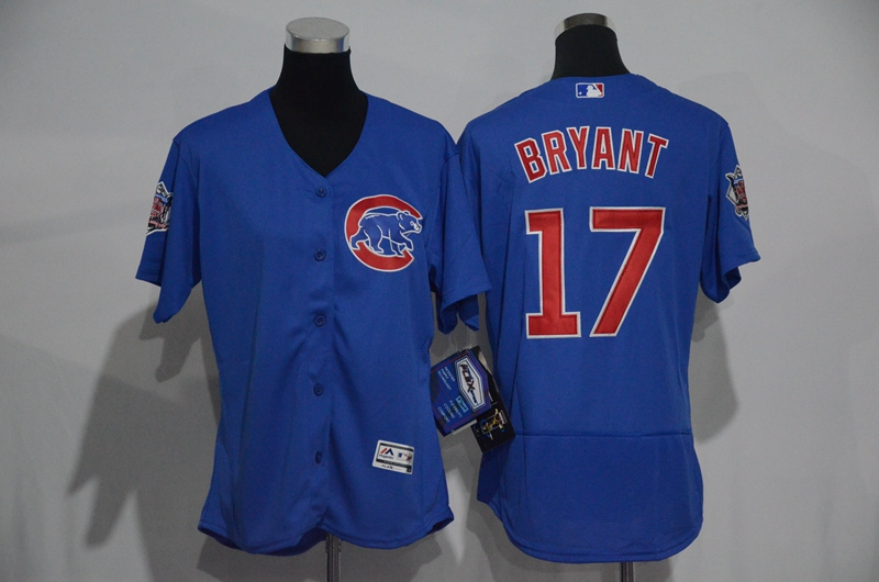 womens-2017-mlb-chicago-cubs-17-bryant-blue-elite-jerseys