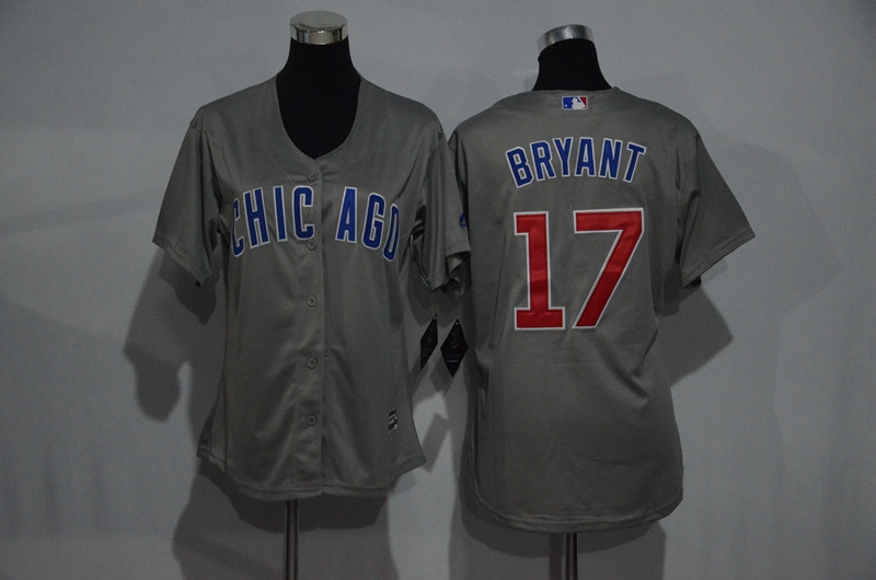 womens-2017-mlb-chicago-cubs-17-bryant-grey-jerseys