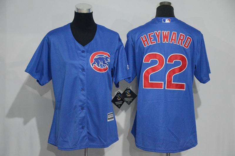 womens-2017-mlb-chicago-cubs-22-heyward-blue-jerseys