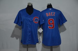 womens-2017-mlb-chicago-cubs-9-baez-blue-jerseys