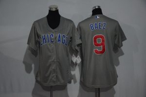 womens-2017-mlb-chicago-cubs-9-baez-grey-jerseys