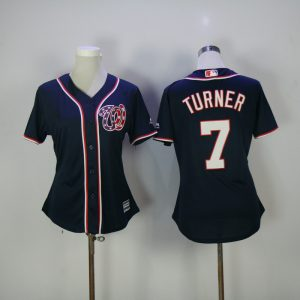 womens-2017-mlb-washington-nationals-7-turner-blue-jerseys