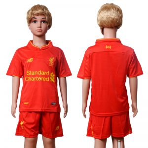 2016-2017 club Liverpool home Kids Blank Red Soccer Jersey