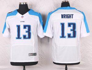 2016 Men's Nike Tennessee Titans 13 Kendall Wright Elite White NFL Jersey