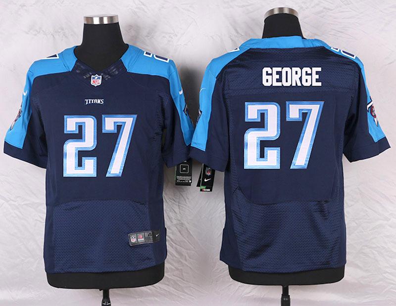 2016 Men's Nike Tennessee Titans 27 Eddie George Elite Navy Blue Alternate NFL Jersey