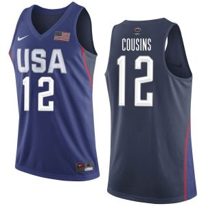 2016 NBA USA Dream Twelve Team 12 Cousins Blue Jerseys