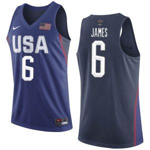 2016 NBA USA Dream Twelve Team 6 James Blue Jerseys