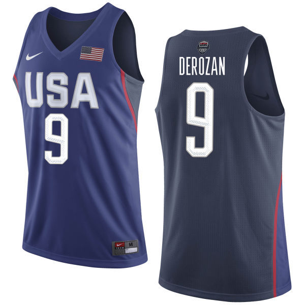 2016 NBA USA Dream Twelve Team 9 Derozan Blue Jerseys