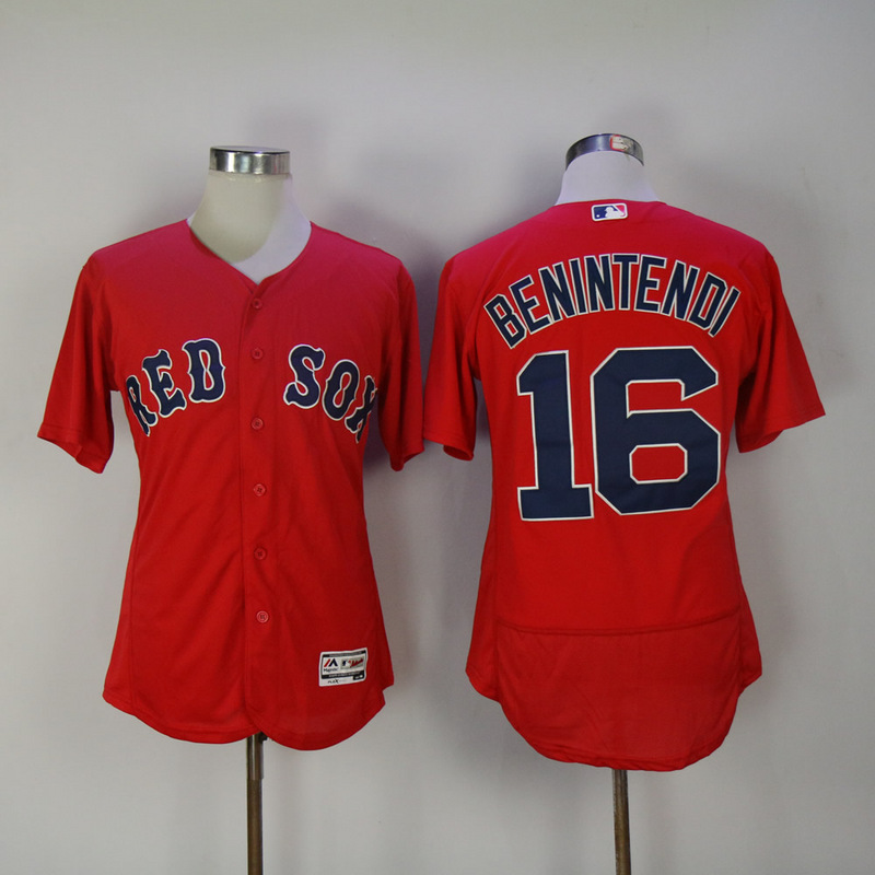 2017 MLB Boston Red Sox 16 Benintendi Red Elite Jerseys