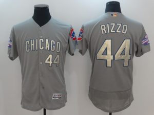 2017 MLB Chicago Cubs 44 Rizzo Grey Gold Program Elite Jersey