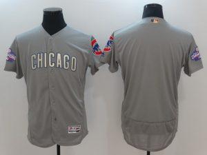 2017 MLB Chicago Cubs Blank Grey Gold Program Elite Jersey