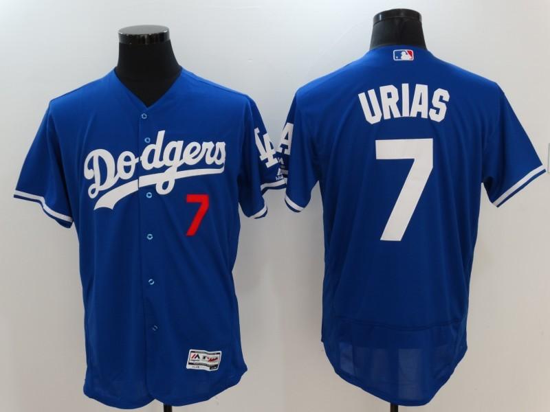 2017 MLB Los Angeles Dodgers 7 Urias Blue Elite Jerseys