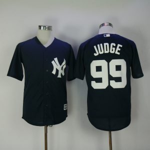 2017 MLB New York Yankees 99 Judge Blue Game Jerseys